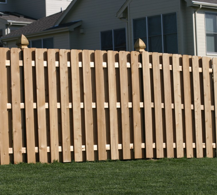 The American Fence Company - Wood Fencing, 1007 6' board on board