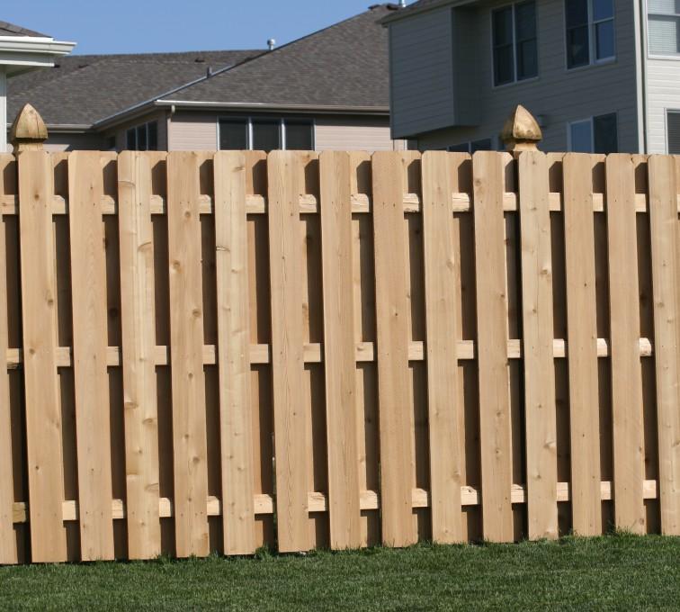 The American Fence Company - Wood Fencing, 1008 6' board on board