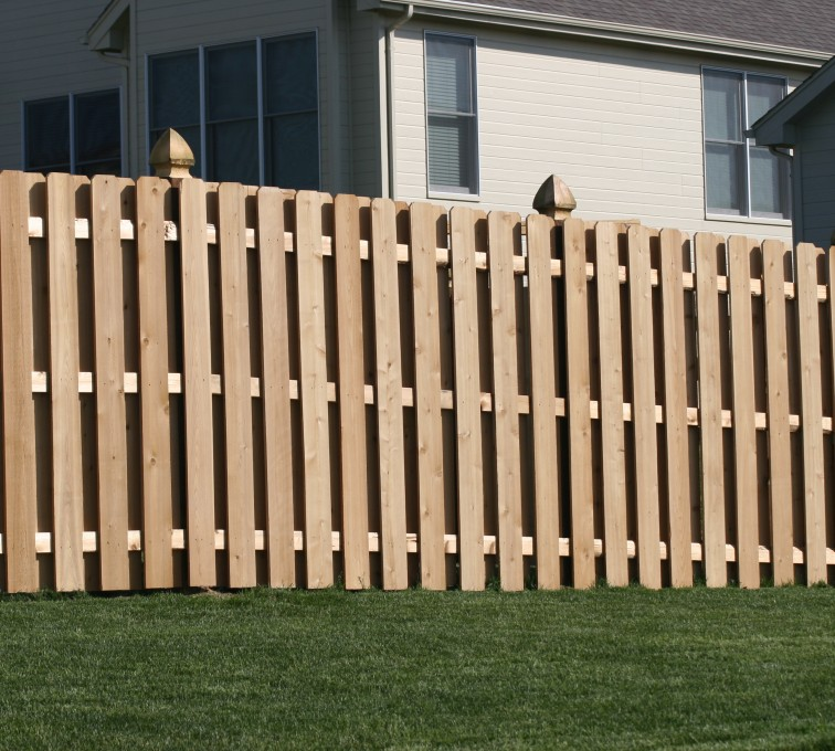 The American Fence Company - Wood Fencing, 1009 6' board on board