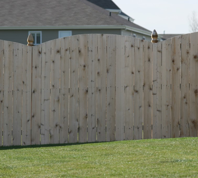 The American Fence Company - Wood Fencing, 1020 Wood 6' overscallop solid