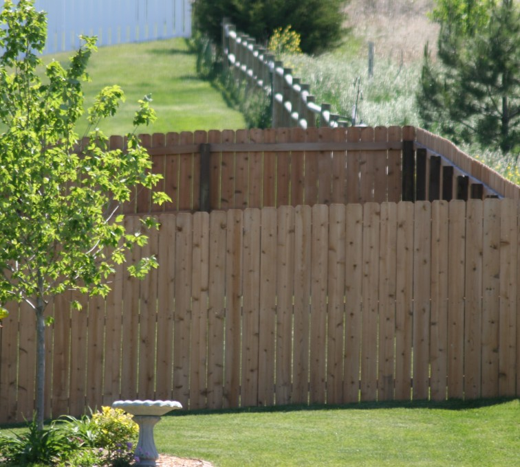 The American Fence Company - Wood Fencing, 1021 6' Solid Privacy