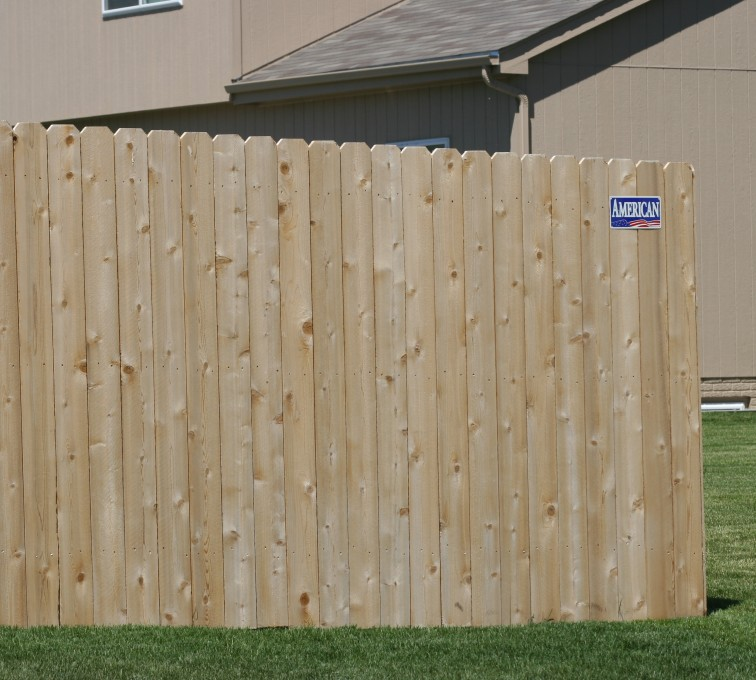 The American Fence Company - Wood Fencing, 1022 6' solid privacy