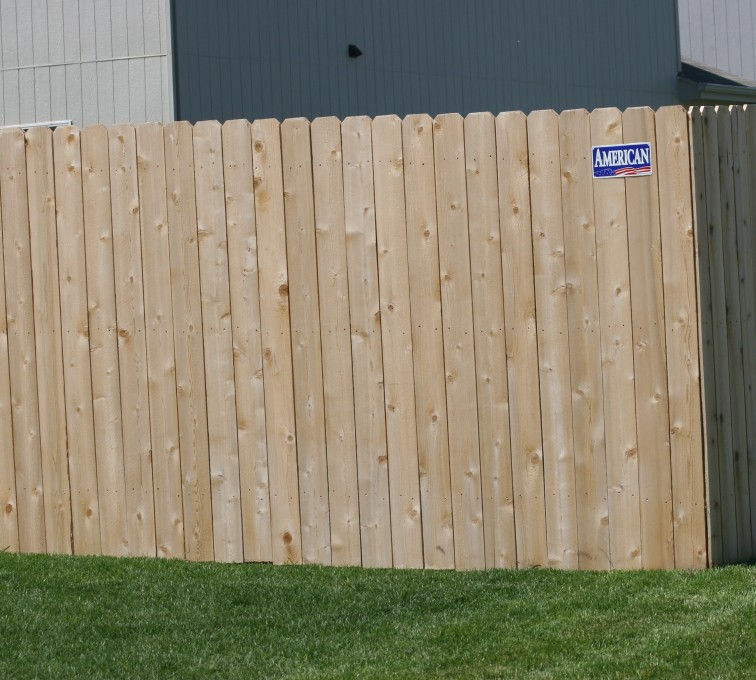 The American Fence Company - Wood Fencing, 1023 6' solid privacy