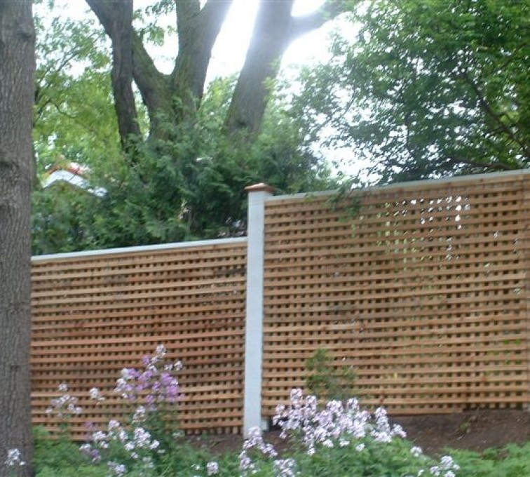 The American Fence Company - Wood Fencing, 1027 Lattice fence