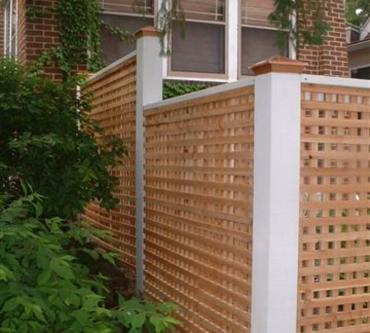 The American Fence Company - Wood Fencing, 1028 Lattice Fence