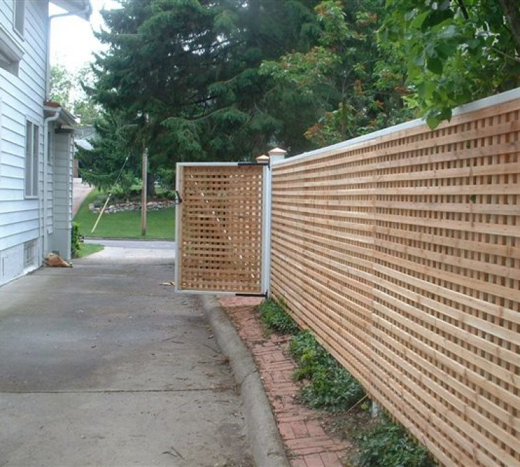 The American Fence Company - Wood Fencing, 1029 Lattice Fence