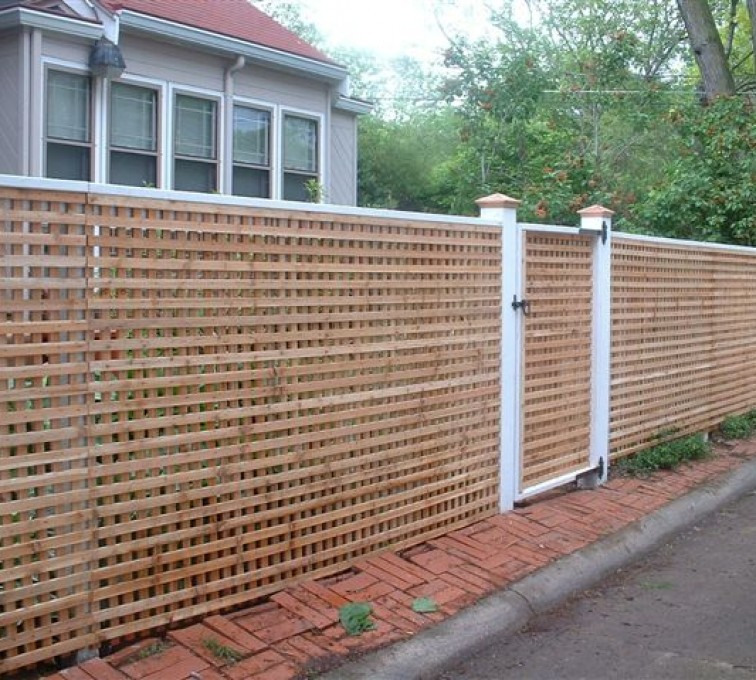 The American Fence Company - Wood Fencing, 1030 Lattice Fence