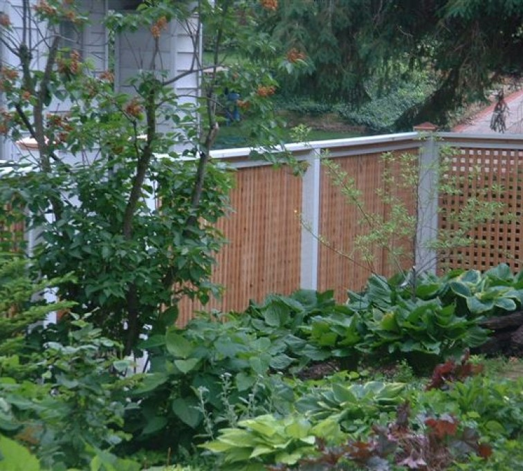 The American Fence Company - Wood Fencing, 1031 Lattice Fence