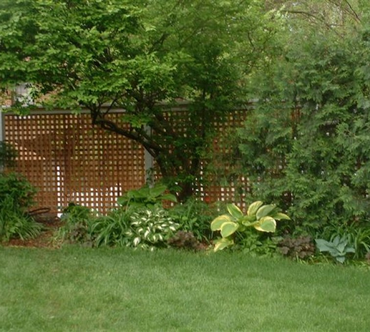 The American Fence Company - Wood Fencing, 1032 Lattice Fence