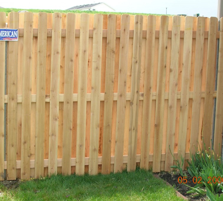 The American Fence Company - Wood Fencing, 1049 1x4x4 Board on board