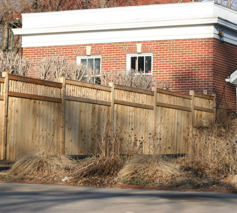 The American Fence Company - Wood Fencing, 1061 Custom Solid with Accent Top
