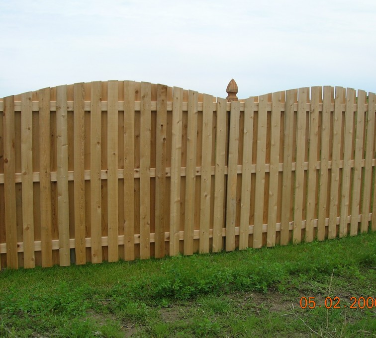 The American Fence Company - Wood Fencing, 1070 6' BOB OS 1x4