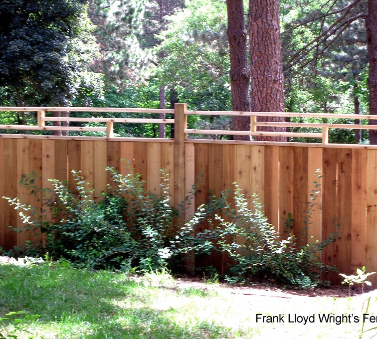 The American Fence Company - Wood Fencing, 1074 Frank Lloyd Wright Fence