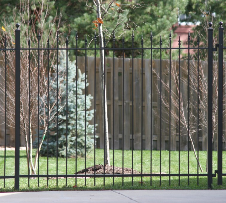 The American Fence Company - Custom Iron Gate Fencing,1202 Alternating Picket Ornamental Iron Photo