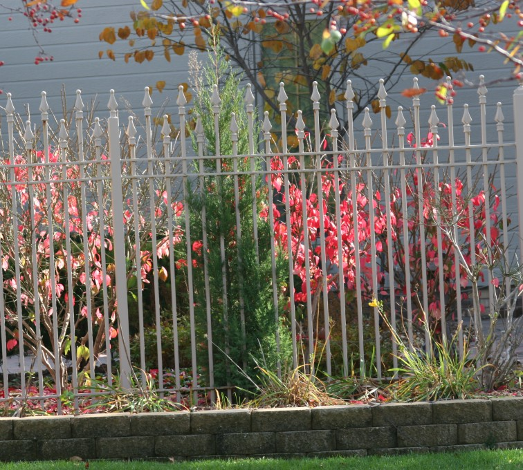The American Fence Company - Custom Iron Gate Fencing, 1203 Alternating Picket White Ornamental Iron