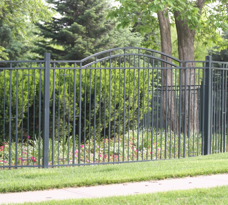The American Fence Company - Custom Iron Gate Fencing, 1215 Over arch panel