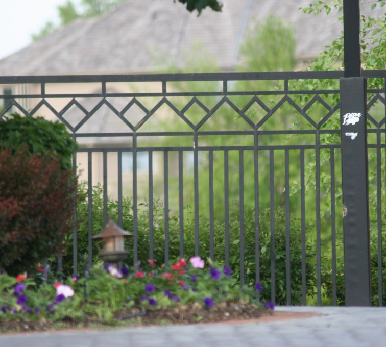 The American Fence Company - Custom Iron Gate Fencing, 1218 Mulitple Diamond Accent