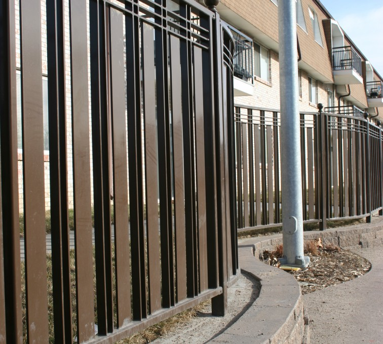 The American Fence Company - Custom Iron Gate Fencing, 1246 Checker Board Fence