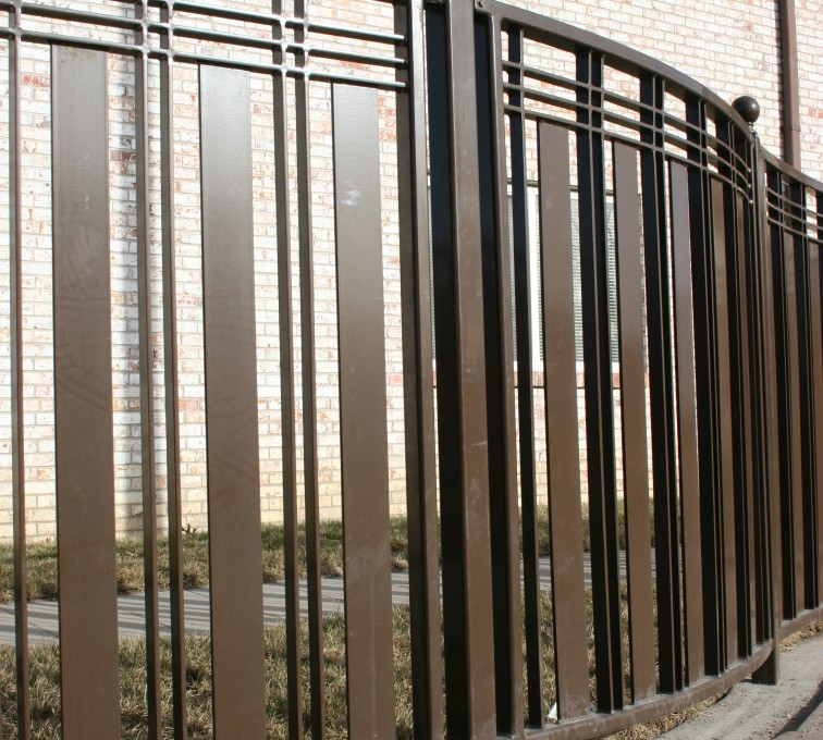 The American Fence Company - Custom Iron Gate Fencing, 1247 Checker Board Fence