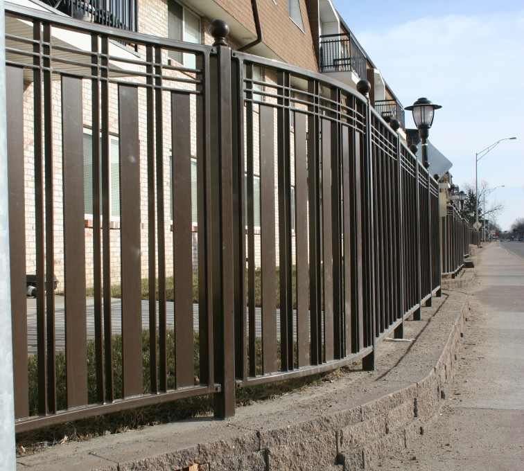 The American Fence Company - Custom Iron Gate Fencing, 1248 Checker Board Fence