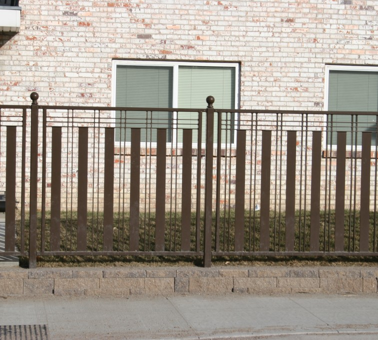 The American Fence Company - Custom Iron Gate Fencing, 1250 Checker Board Fence