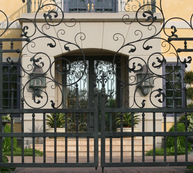 The American Fence Company - Custom Gates, 1305 Estate gate with heavy scroll work