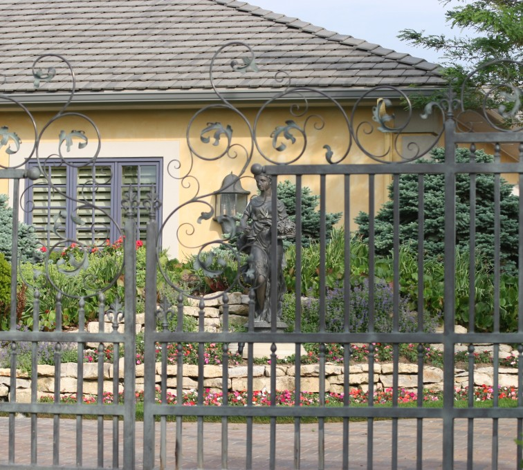 The American Fence Company - Custom Gates, 1306 Estate gate with heavy scroll work