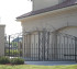 The American Fence Company - Custom Gates, 1310 Over Arch gate with scrolls and operator