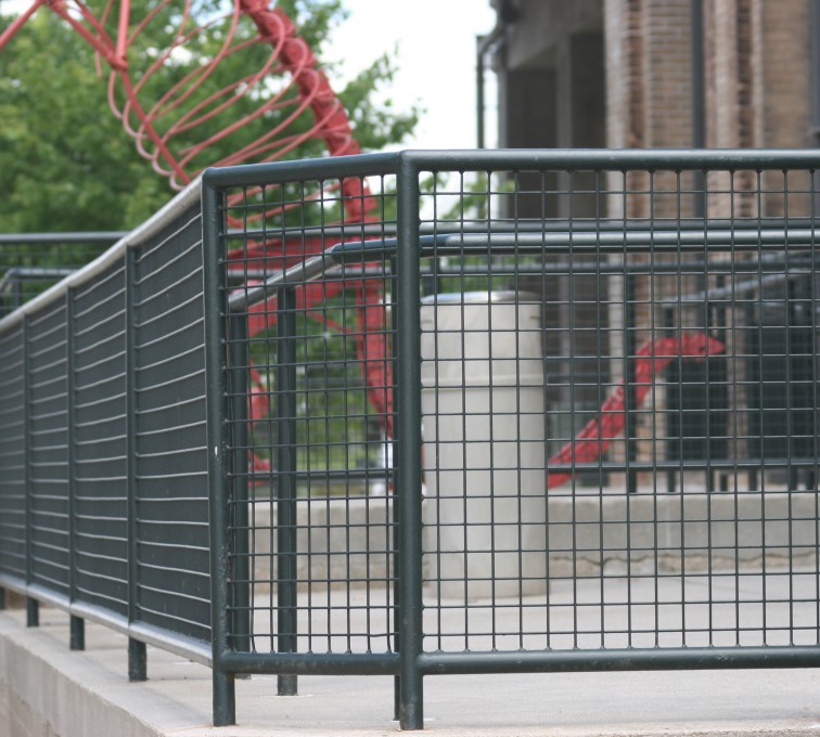 The American Fence Company - Custom Railing, 2207 Railing with heavy mesh infill