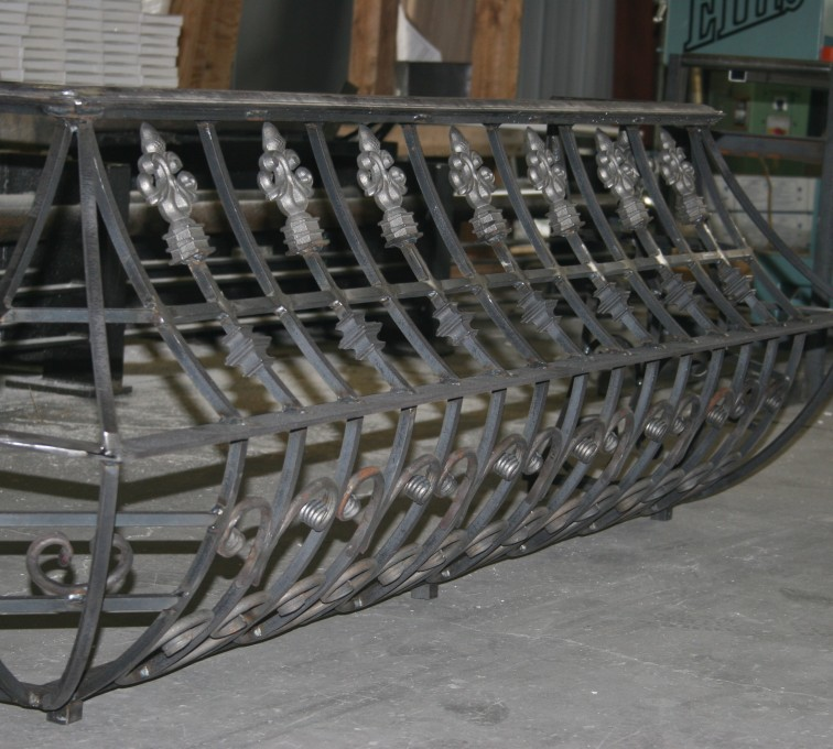 The American Fence Company - Custom Railing, 2219 Balcony Railing in Fabrication