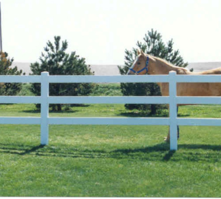 The American Fence Company - Vinyl Fencing, 3 Ranch Rail (955)