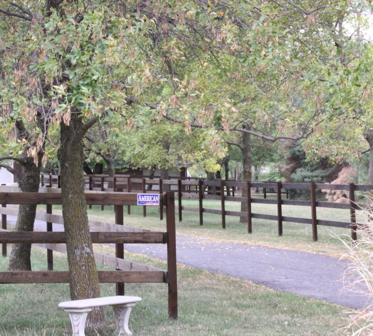 The American Fence Company - 3 Rail Wood Ranch Rail Fence