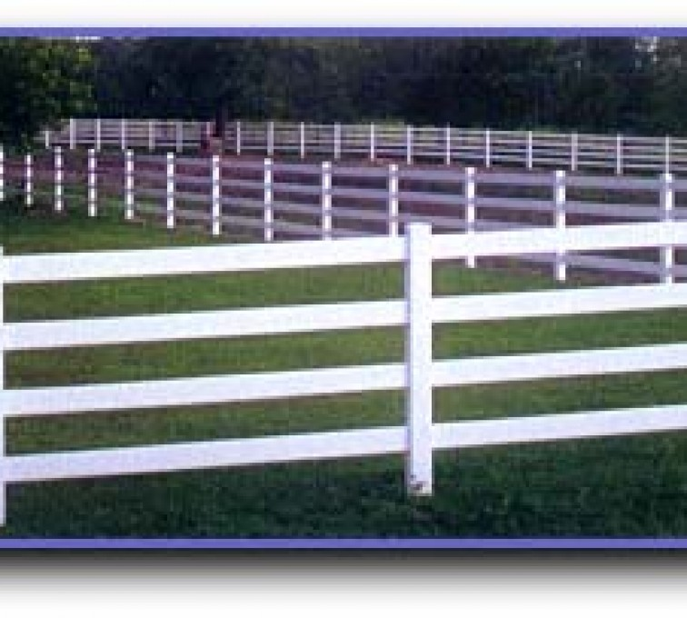 The American Fence Company - Vinyl Fencing, 4 Ranch Rail (958)