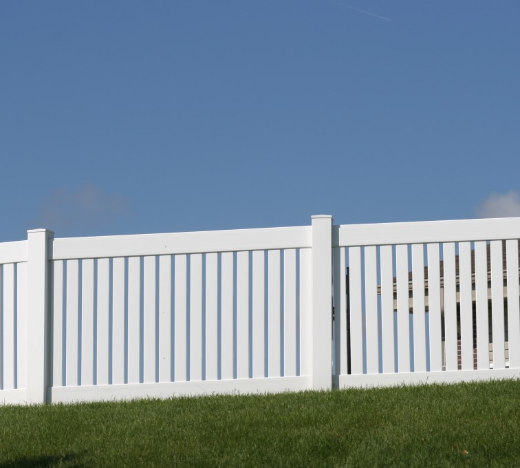 The American Fence Company - Vinyl Fencing, 4' Closed Picket 569