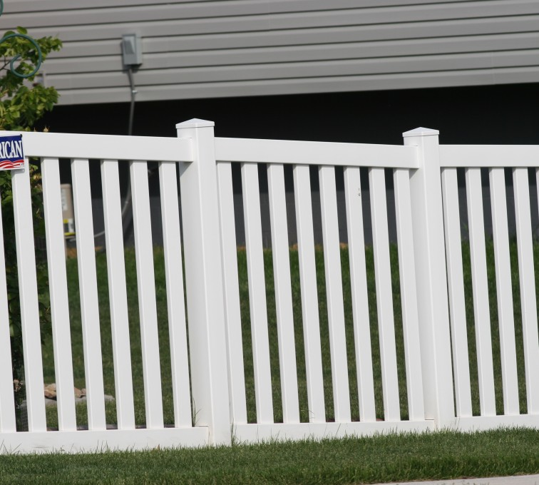 The American Fence Company - Vinyl Fencing, 4' Closed Picket 580