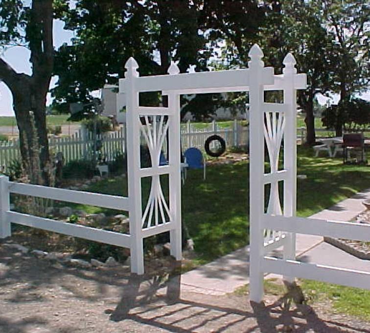 The American Fence Company - Vinyl Fencing, Arbor 502