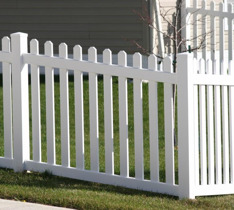 The American Fence Company - Vinyl Fencing, 558 Vinyl 4' picket