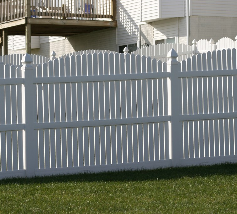 The American Fence Company - Vinyl Fencing, 561 Vinyl 6' arch over picket