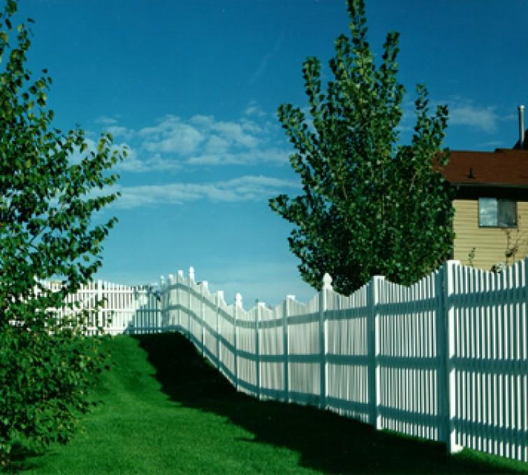 The American Fence Company - Vinyl Fencing, Underscallop Picket 565