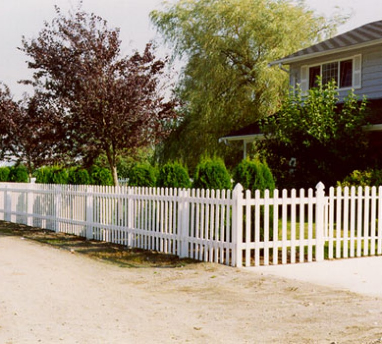The American Fence Company - Vinyl Fencing, Straight Picket 1 568
