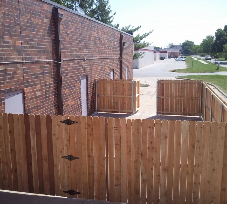 The American Fence Company - Wood Fencing, 6' Solid Wood with Steel Posts - AFC - IA