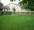 The American Fence Company - Vinyl Fencing,6' Weathered Cedar PVC with Lattice Accent 2 - AFC - IA