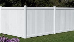 AFC Grand Island - Vinyl Fencing, 6' White Polid Privacy PVC - AFC - IA