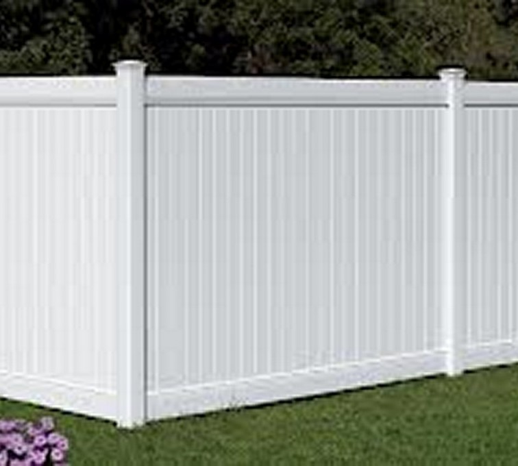 The American Fence Company - Vinyl Fencing, 6' White Polid Privacy PVC - AFC - IA