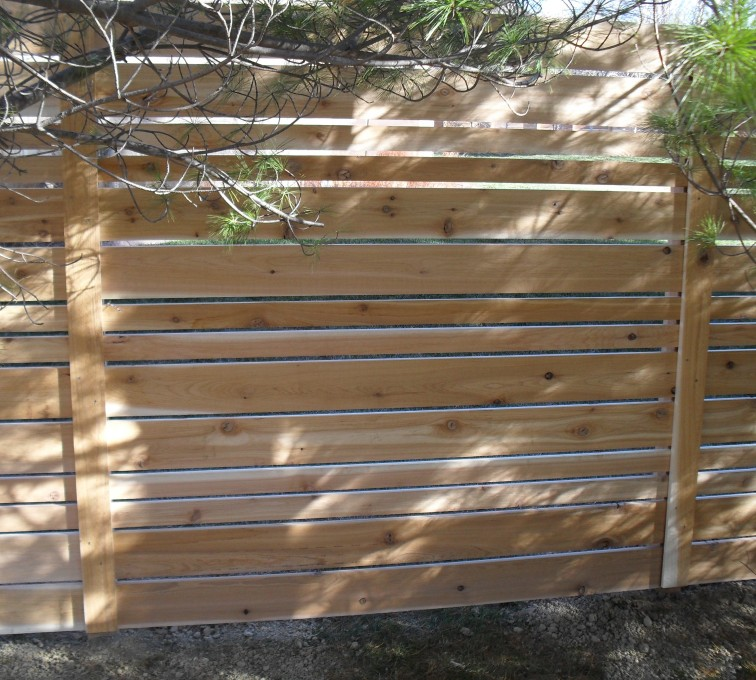 The American Fence Company - Wood Fencing, 6' Horizontal Wood White B