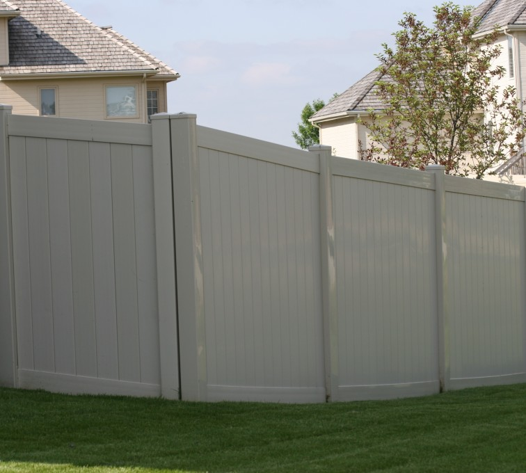 The American Fence Company - Vinyl Fencing, 6' solid privacy tan (620)
