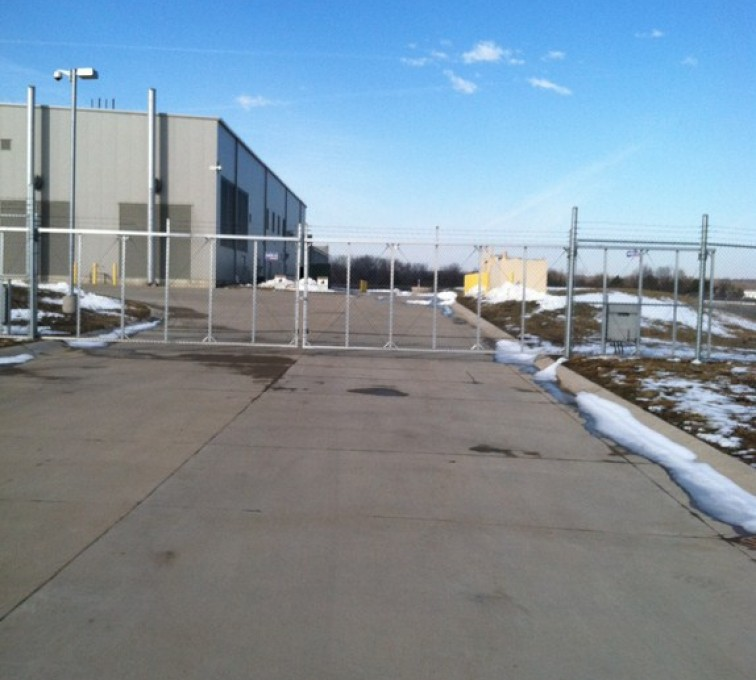 The American Fence Company - Custom Gates, 8' Double Drive Gate with Operator - AFC - IA