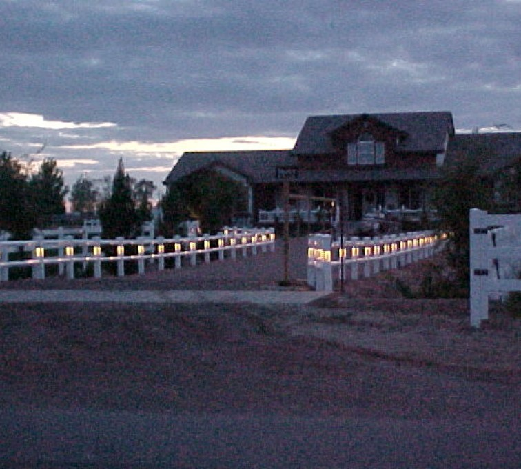The American Fence Company - Vinyl Fencing, AZ Mortenson Lighted Entry 3