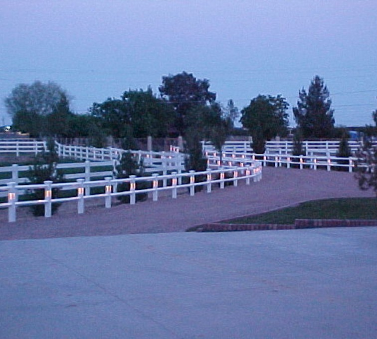 The American Fence Company - Vinyl Fencing, AZ Mortenson lighted entry