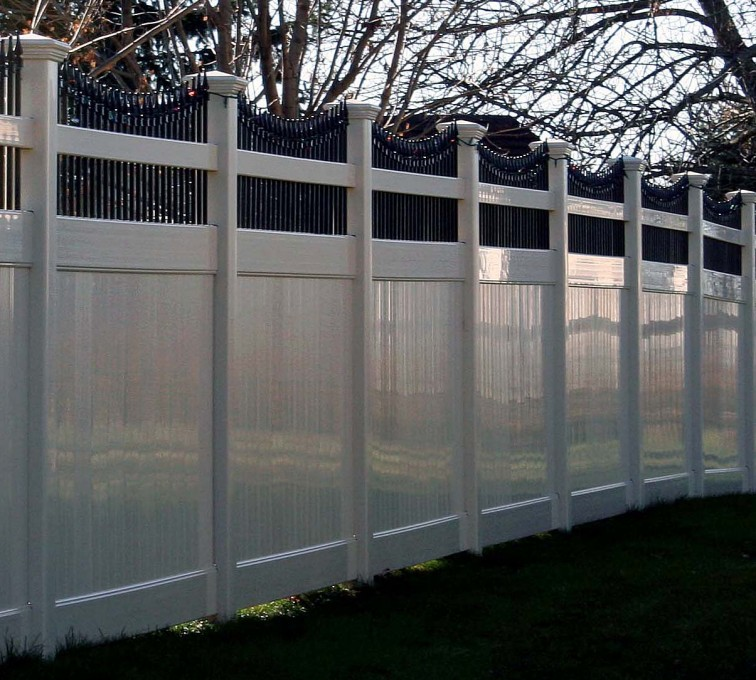 The American Fence Company - Vinyl Fencing, Black N' Tan II